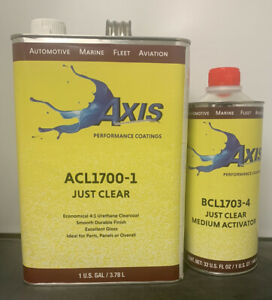 Axis Performance Clear Coat Kit Medium Fh612 Hardener quart similar To Fc720