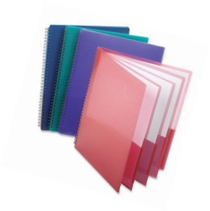 Esselte Oxford Poly 8 pocket Folder Letter Size 9 1 X 10 6 X 0 4 colors May