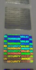 1000 Svag 1 Square Product Protection Hologram Label Tamper Evident Stickers