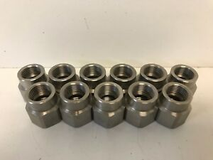 Lot Of 11 New Old Stock Teejet Ss Spray Nozzle Adapters 1 2 x3 8 4676 1 2