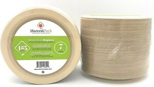 Disposable Party Plates 125 7in Bamboo Recyclable Biodegradeable Tableware Dish