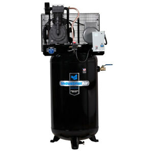 Industrial Air 5 Hp 230v 80 Gal Baldor Vertical Compressor Iv5018055 New