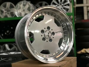New 17 Inch Staggered Oz Aero Classic Design Wheel Set Of 4 Mercedes Silver