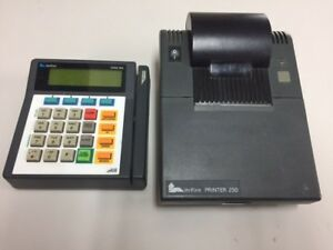 Verifone Credit Card Printer 250 And Keypad Omni 395