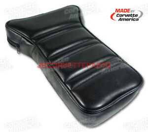 1972 Thru 1978 Corvette Black Leather Center Console Armrest New