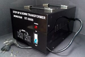 5000 Watt Step Up Step Down Voltage Transformer Converter With Fuse Protection