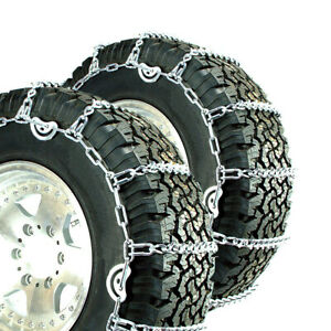 Titan V bar Tire Chains Cam Type Ice Or Snow Covered Roads 5 5mm 265 75 16