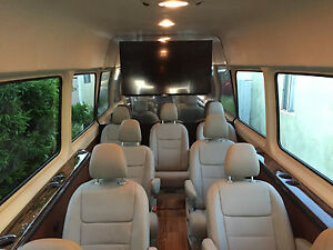 Set Of 9 New Leather Seats For Mercedes Sprinter Van Rv Or Shuttle Bus Motorhome