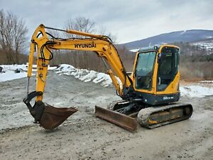 Bobcat E42 Excavator Cab Heat A c Angle Blade Long Arm Kubota Diesel Low Hours