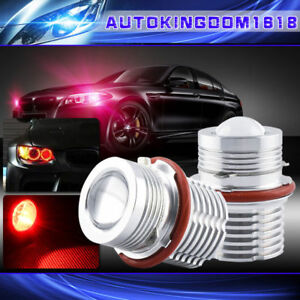 Pair 60w Red Led Angel Eyes Halo Ring Light Bulbs For Bmw E39 E60 Error Free