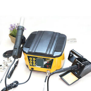 Aoyue 6031 2 In 1 Rework Station Hot Air Gun Soldering Iron Turbine Motor 220v