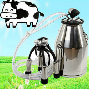 Top Cow Milker Portable Milking Machine Barrel 304 Stainless Steel Bucket Cattle