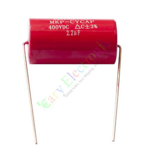 50pc Mkp 400v 2 2uf Red Long Copper Leads Axial Electrolytic Capacitor Audio Amp