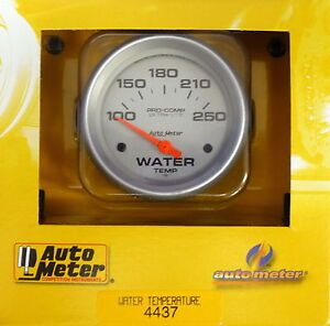 Auto Meter 4437 Ultra Lite Electric Water Temperature Gauge Temp 100 250 Deg