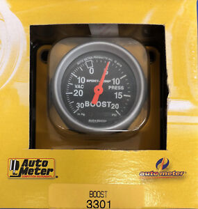 Auto Meter 3301 Sport Comp Vacuum Boost Mechanical Gauge 2 1 16 30 In Hg 20 Psi