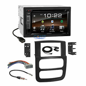 Kenwood Dvd Bluetooth Sirius Xm Car Stereo Dash Kit Harness For Dodge Ram Truck