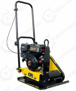 6 5hp Gas Vibration Plate Compactor Walk Behind Tamper Rammer W Water Tank