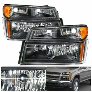 2004 2012 Canyon Chevy Colorado Black Housing Amber Reflector Signal Head Light