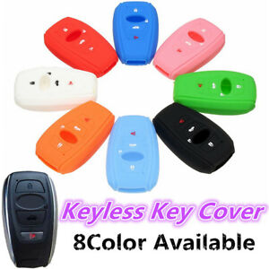 4 Buttons Silicone Cover Key Case Fob For Subaru Forester Outback Brz Wrx 16 17