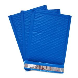 250 0 6x10 Blue Poly Bubble Mailer Envelope Shipping Sealed Mailing Bags