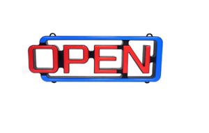 Cm Glow Led Open Sign With Remote Fast Shipping