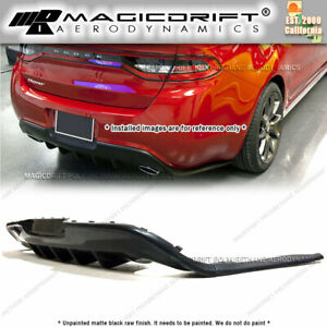 For 13 17 Dodge Dart Gts Style Rear Bumper Lower Diffuser Lip Urethane Gt Srt