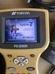 2004 Topcon Fc 2000 Bluetooth Data Collector Topsurv7