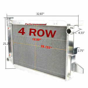 4 Rows Aluminum Radiator For 86 95 Ford Bronco f 150 F 250 F 350 5 0 5 8 7 5 V8