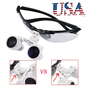 Usa Dental Surgical Loupes Binocular Loupe Glasses Lens Magnifier 3 5x 420mm Ce