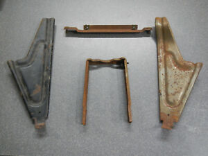 1964 1965 Buick Riviera Console Mounting Brackets To Dash To Floor 4 Piece 64 65