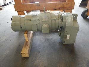 New 5 Hp Sterling Electric Motor 54 1 Ratio Reducer Stearns Brake 230 460v New