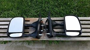 Ford Oem Econoline Eseries E150 E250 E350 Towing Telescoping Power Side Mirrors