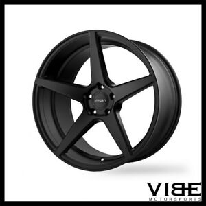 22 Velgen Classic5 Black Concave Wheels Rims Fits Chrysler 300