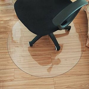 Hard Wood Floor Protector Pvc Round Clear Office Chair Mat 2 0mm Dia 47