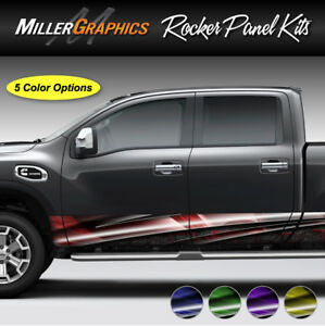 Armor 107 Rocker Panel Graphic Decal Wrap Kit Truck Suv 4 Sizes 5 Colors