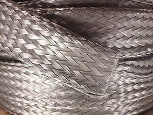 100 Foot 7 8 Tinned Copper Flat Braid Wire Shielding Cable Bare Ground Strap