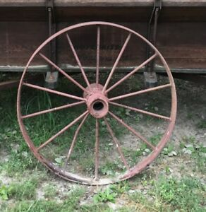 4 Metal Wagon Wheels