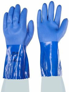 Showa Atlas 660xl 10 Fully Coated Triple dipped Pvc Gloves Xl 12 Pack