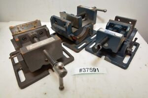 Lot Of 3 Tilting Vises 4 Inch inv 37591