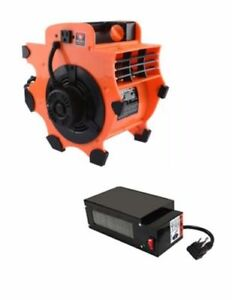 Industrial Air Mover Fan Blower Dryer Portable Lightweight With Heater Attach