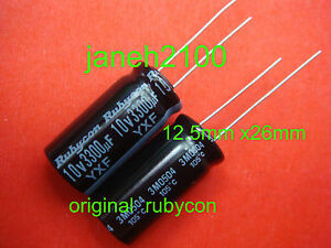 200p Rubycon 10v 3300uf Electrolytic Capacitor 12 5x26mm Japan New Free Ship