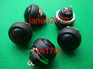 200pc Black Momentary Off on Push Button Horn Switch b170
