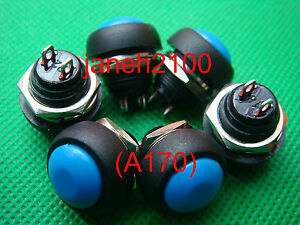 60pc Blue Momentary Off on Push Button Horn Switch b170