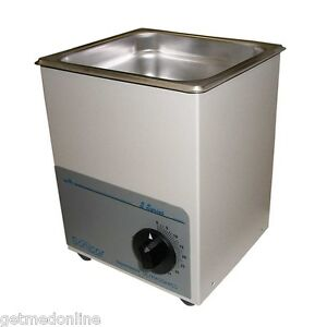 New Sonicor Stainless Steel Tabletop Ultrasonic Cleaner 0 5 Gal Capacity S 50t