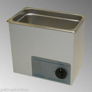 New Sonicor Stainless Steel Tabletop Ultrasonic Cleaner 1 Gal Capacity S 101t