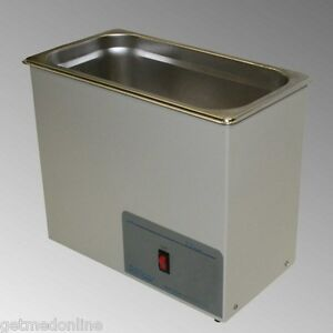 New Sonicor Stainless Steel Heated Ultrasonic Cleaner 2 5 Gal Capacity S 200h