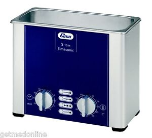 New Elma Sonic S10h 0 25 Gal Ultrasonic Cleaner Digital timer heat degassing