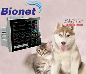 New Bionet Bm7 Vet Multiparameter Veterinary Patient Monitor 12 Touch Screen