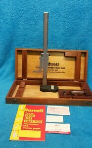 Starrett 255 m300 Vernier Height Gage Metric Satin Chrome Vary Clean