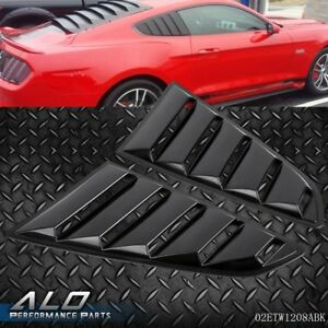 For 2015 2017 Ford Mustang Gt V6 Quarter 1 4 Side Window Louver Scoop Cover
